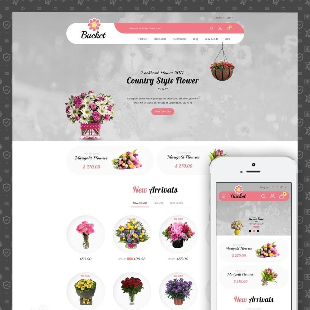 theme - Regalos, Flores y Celebraciones - Bucket Flower Store - 1