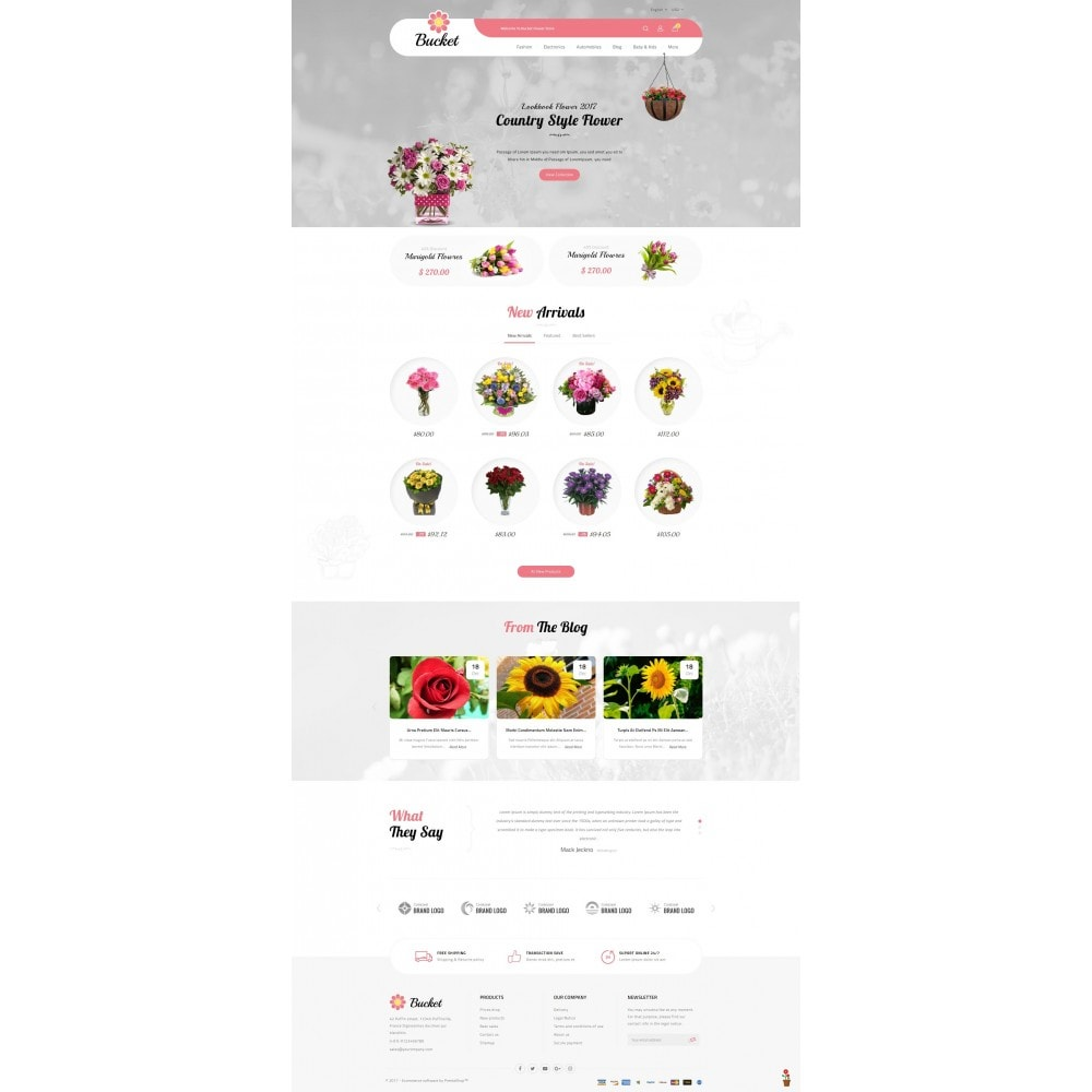 theme - Gifts, Flowers & Celebrations - Bucket Flower Store - 2