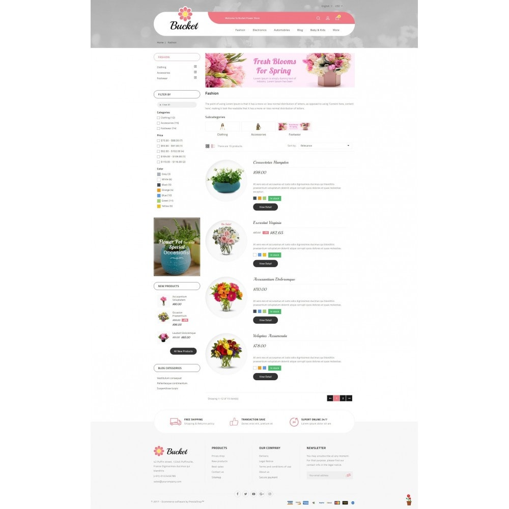 theme - Regali, Fiori & Feste - Bucket Flower Store - 4