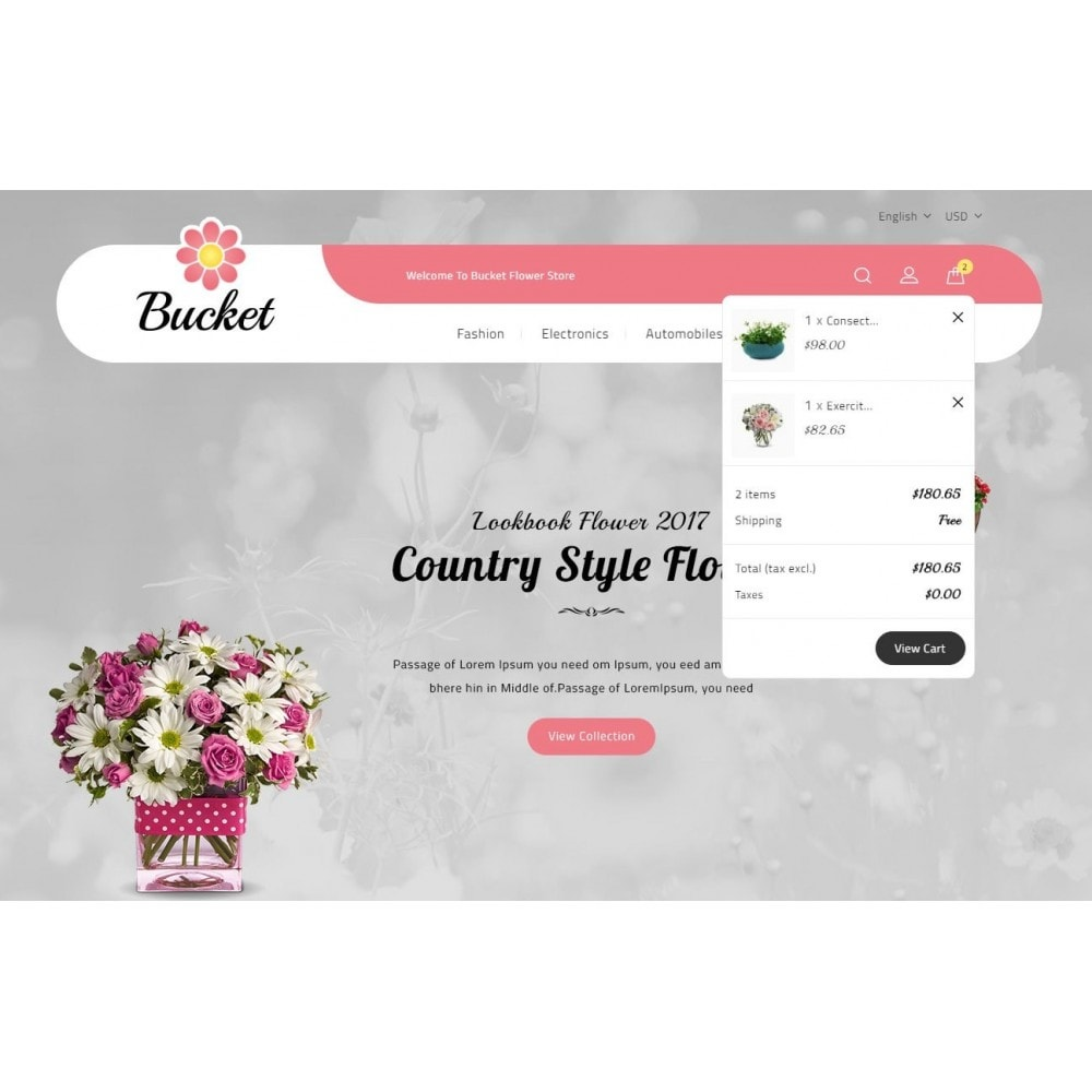 theme - Gifts, Flowers & Celebrations - Bucket Flower Store - 8