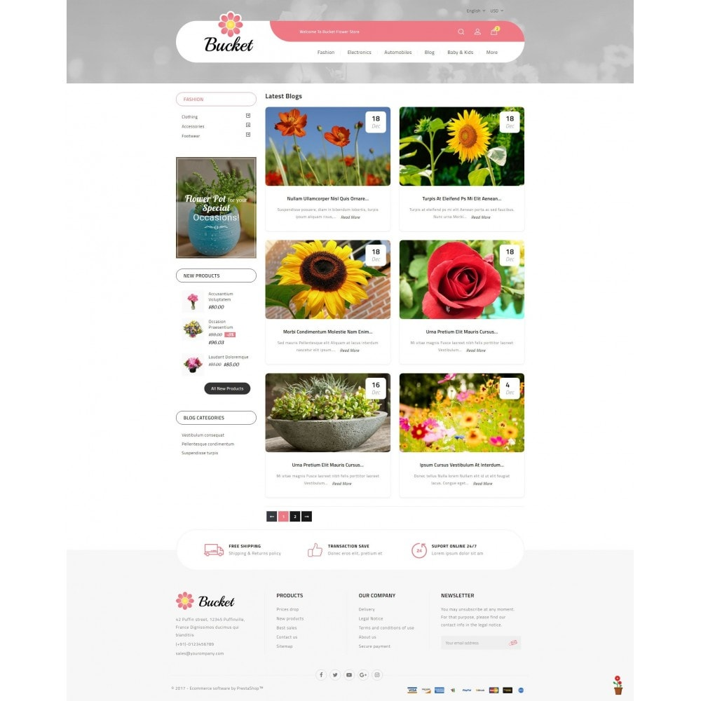 theme - Regali, Fiori & Feste - Bucket Flower Store - 9