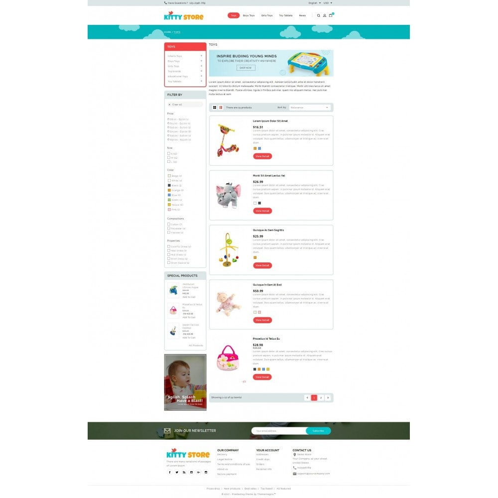 theme - Kids & Toys - KittyStore - Online Toys Store - 4