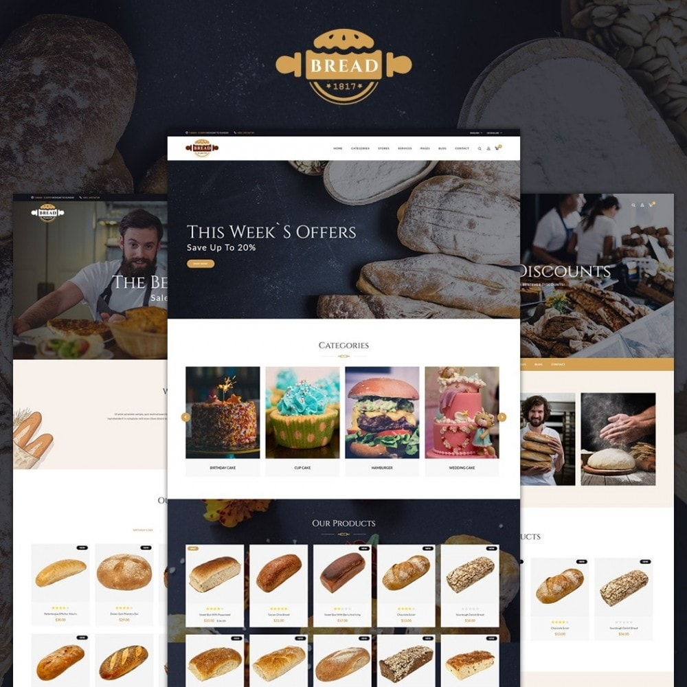 theme - Lebensmittel & Restaurants - JMS Bread 1.7 - 1