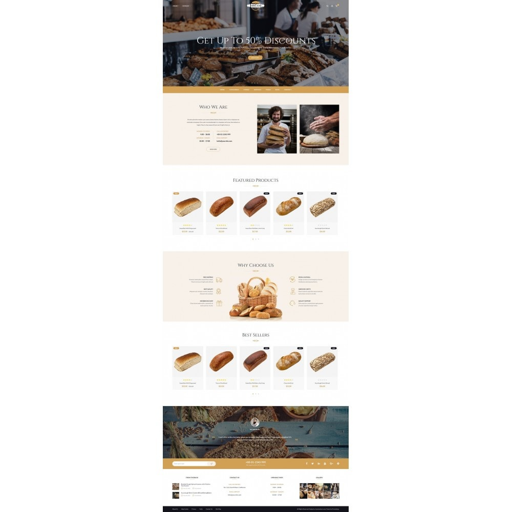 theme - Lebensmittel & Restaurants - JMS Bread 1.7 - 8