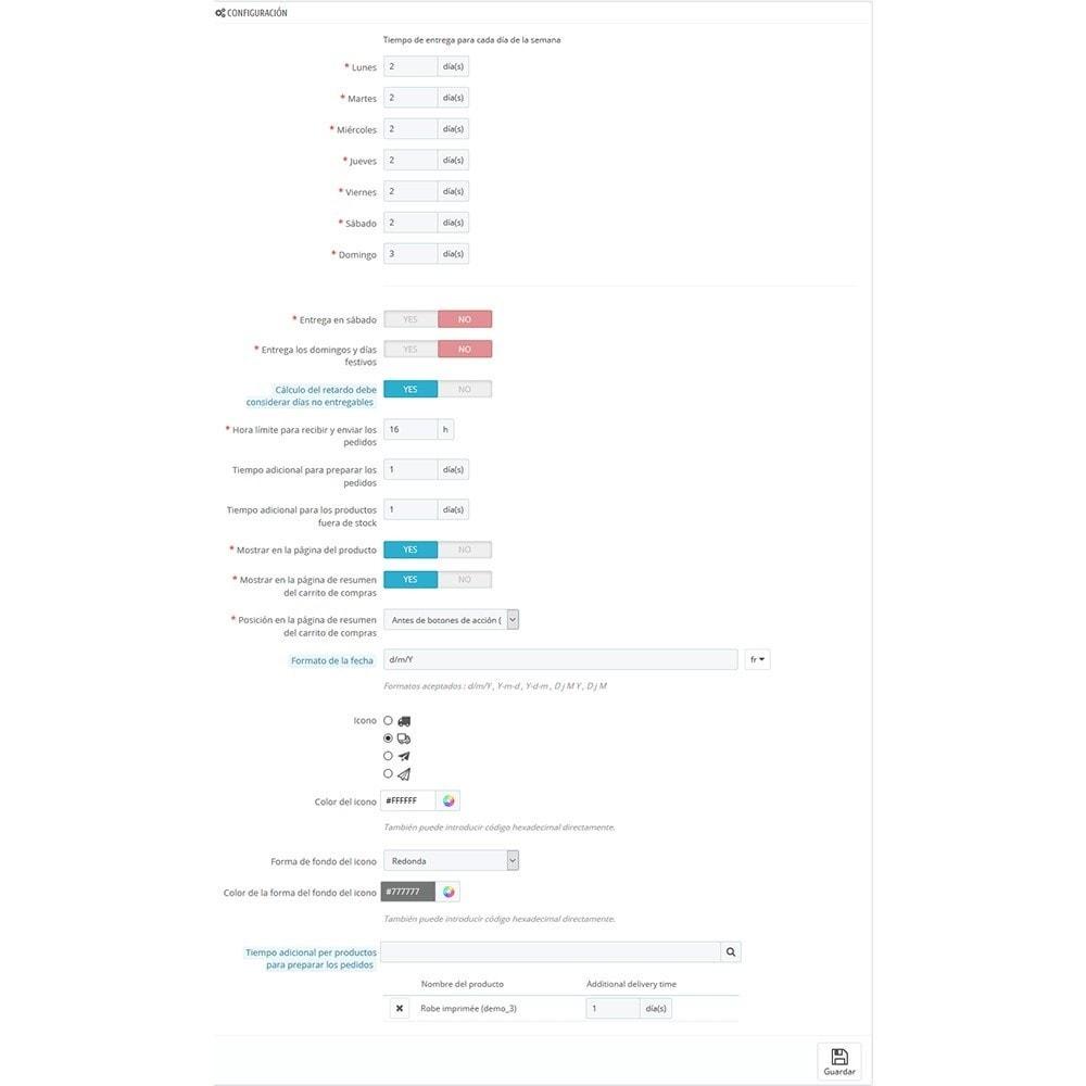 module - Fecha de entrega - Fecha de entrega estimada - 5
