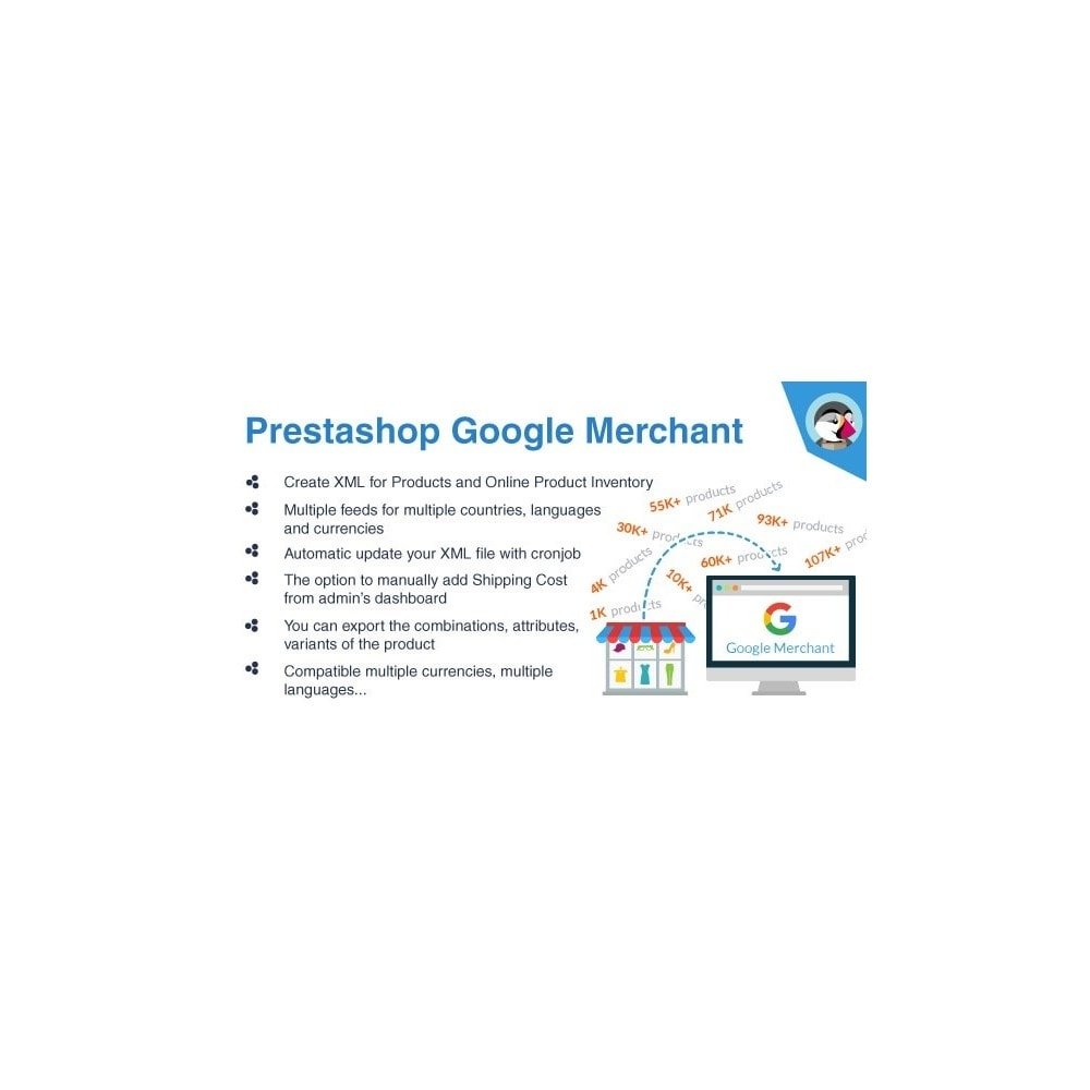 module - Marketplaces - Export Bulk products, thousands to Google Merchant Pro - 1