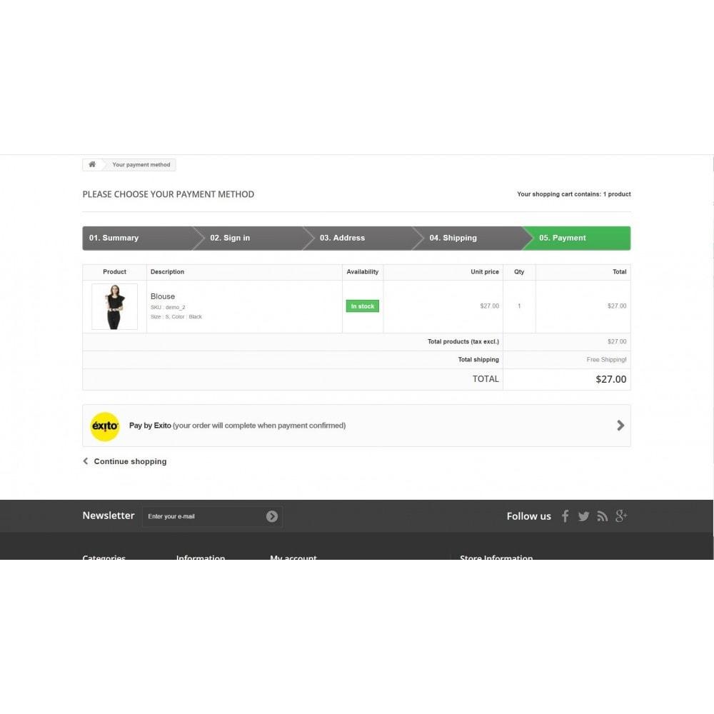 module - Otros métodos de pago - Pago Exito - 2