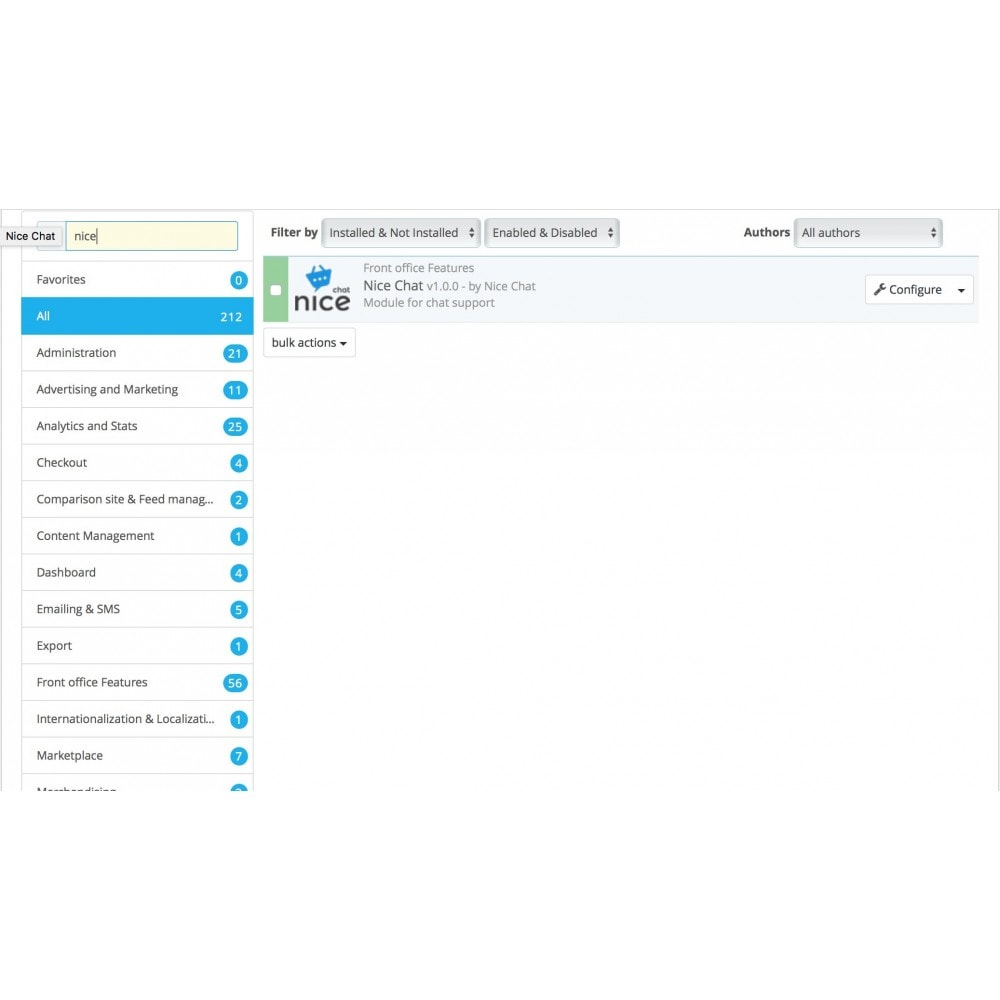 module - Support & Online Chat - Nice Chat — Live Chat Software for eCommerce - 2