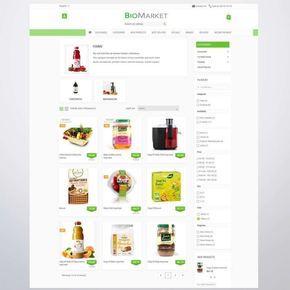 theme - Health & Beauty - Bio Market - 5