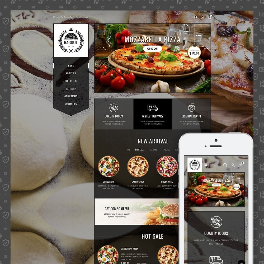 theme - Food & Restaurant - Ragout Pizza Store - 1