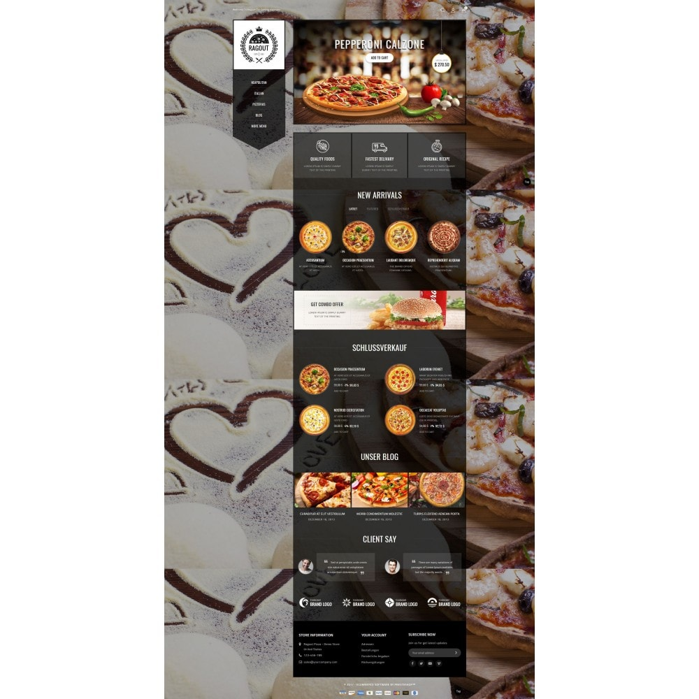 theme - Food & Restaurant - Ragout Pizza Store - 2
