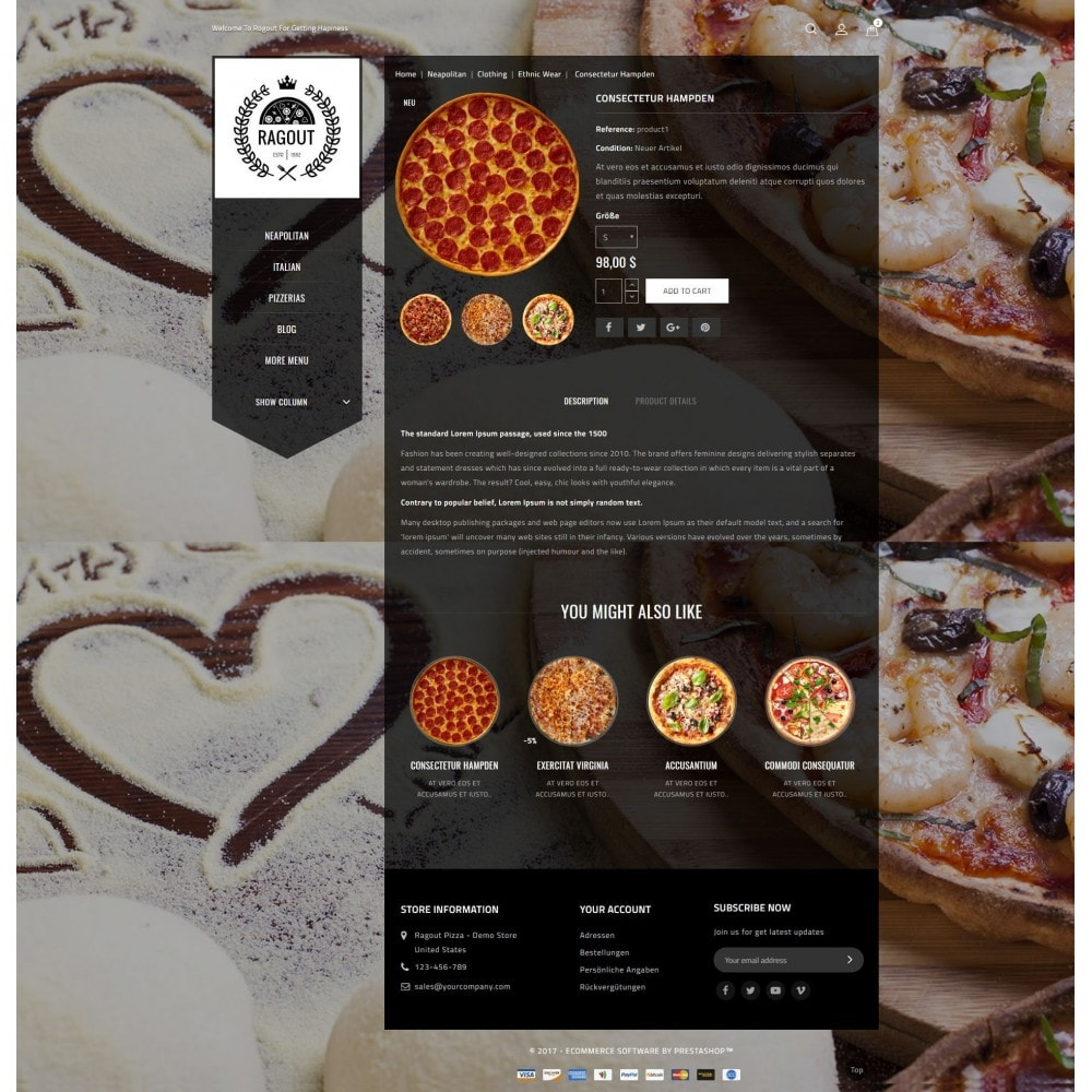 theme - Food & Restaurant - Ragout Pizza Store - 5