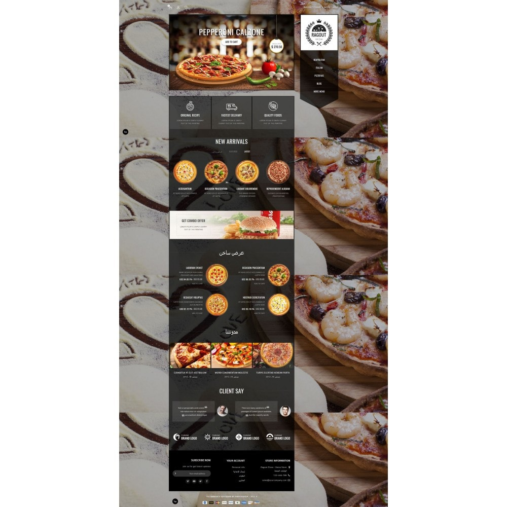 theme - Food & Restaurant - Ragout Pizza Store - 10