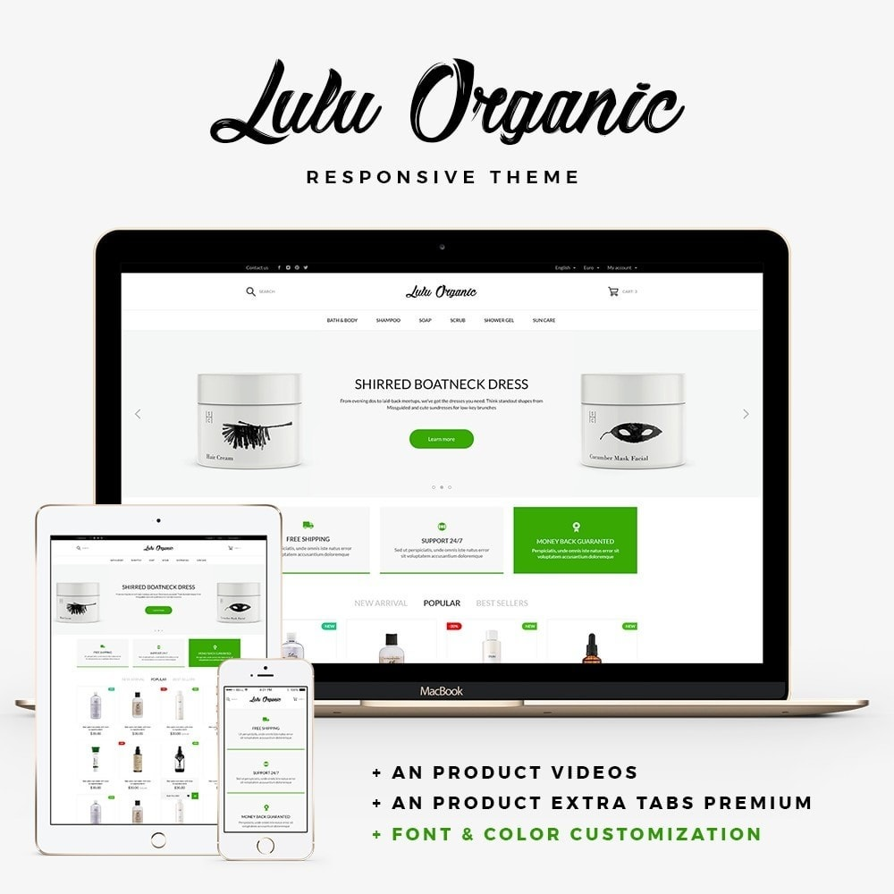 theme - Gesundheit & Schönheit - Lulu Organic - Cosmetics Store - 1