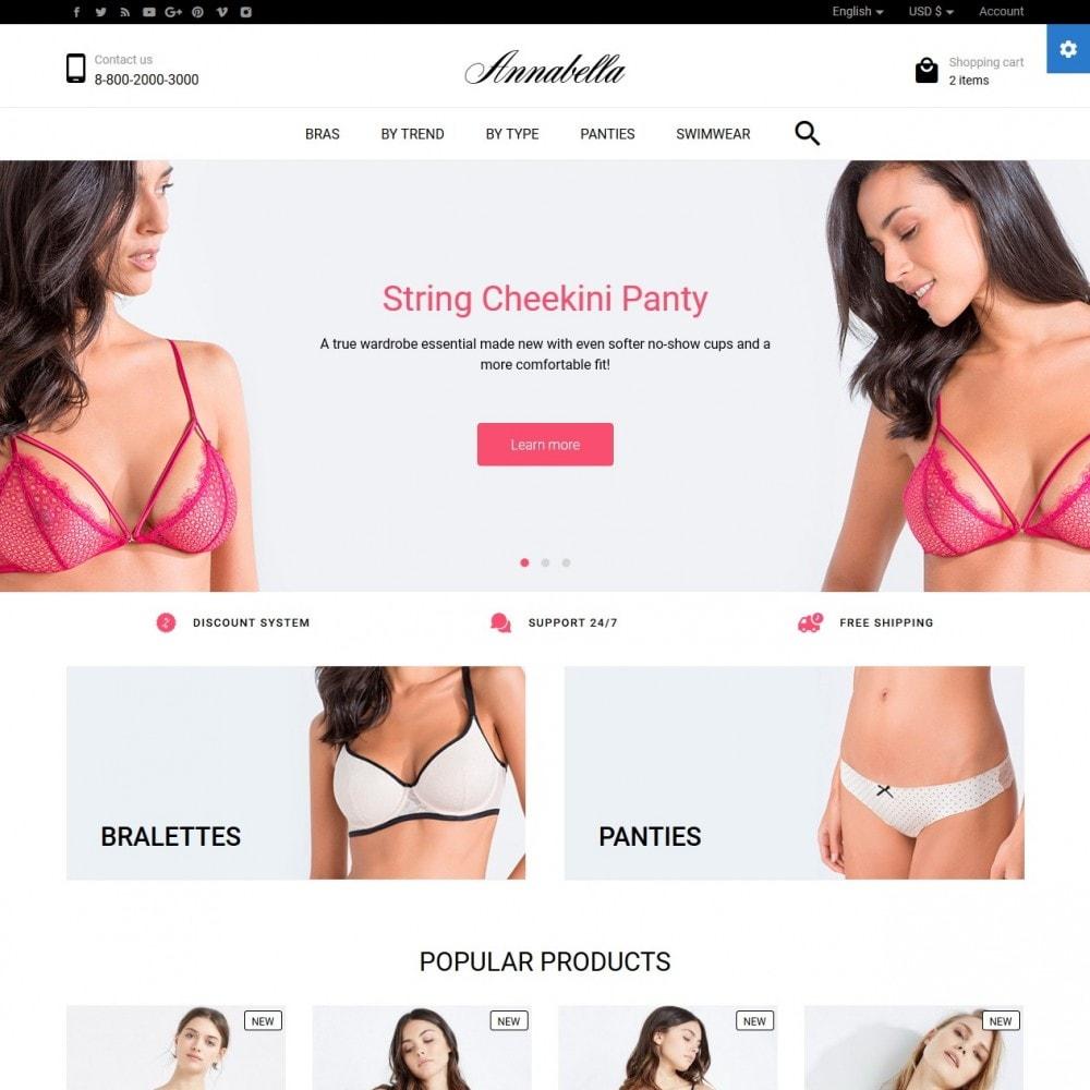 theme - Lingerie & Adult - Annabella Lingerie Shop - 2