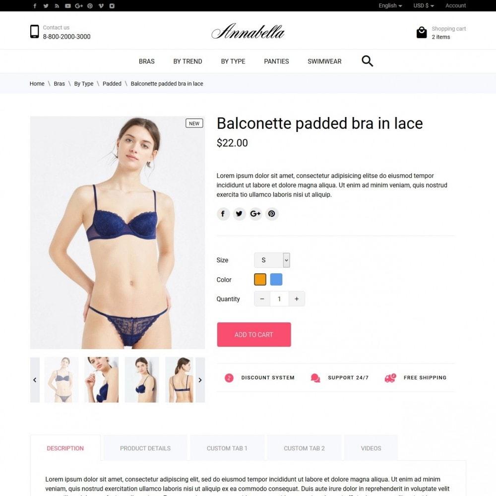 theme - Lingerie & Adult - Annabella Lingerie Shop - 6