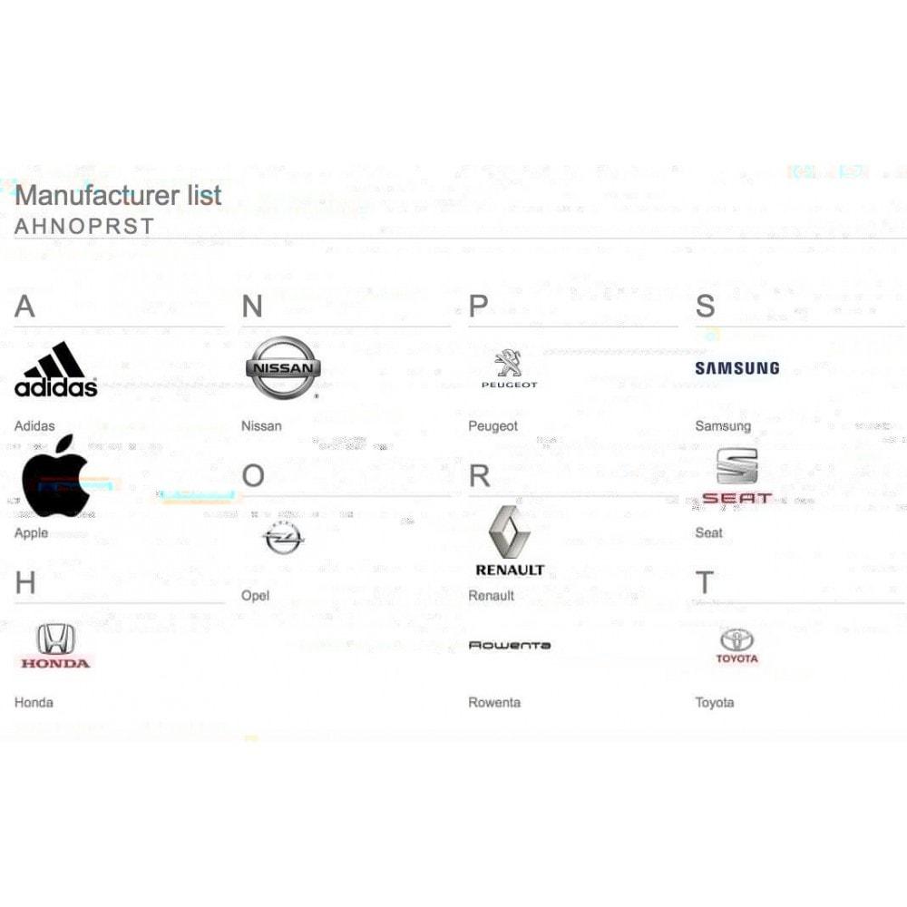 module - Marki & Producenci - Brands glossary ABC / alphabetical manufacturer list - 3