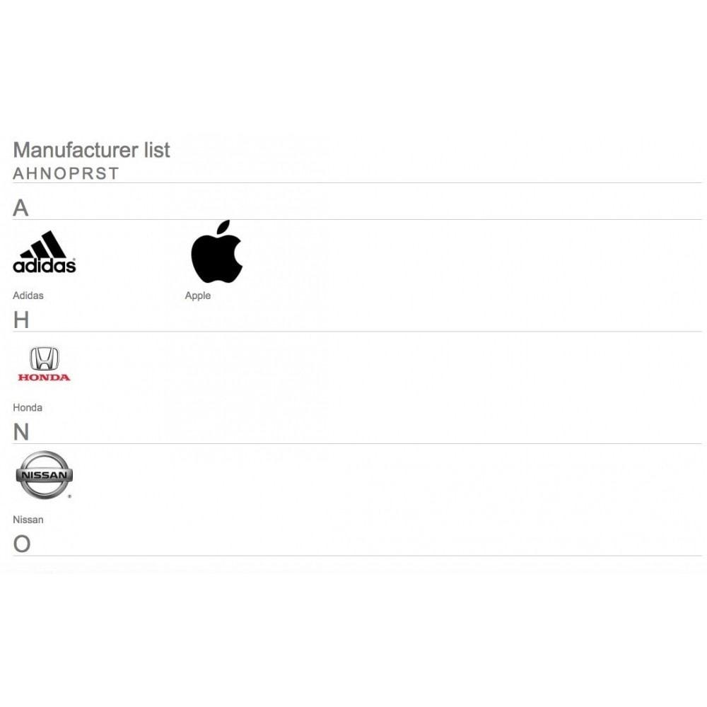 module - Marki & Producenci - Brands glossary ABC / alphabetical manufacturer list - 5