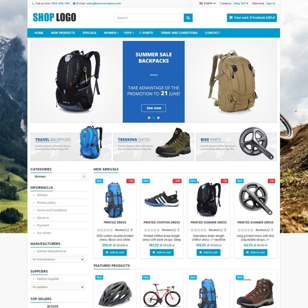 theme - Sport, Attività & Viaggi - P16AT03 Bikes, sport and travel store - 1