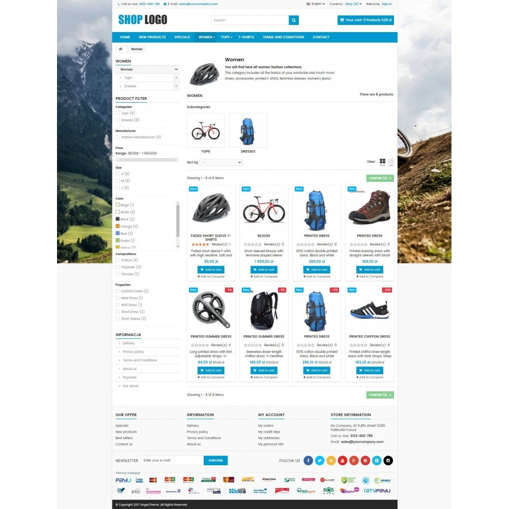 theme - Sport, Attività & Viaggi - P16AT03 Bikes, sport and travel store - 3