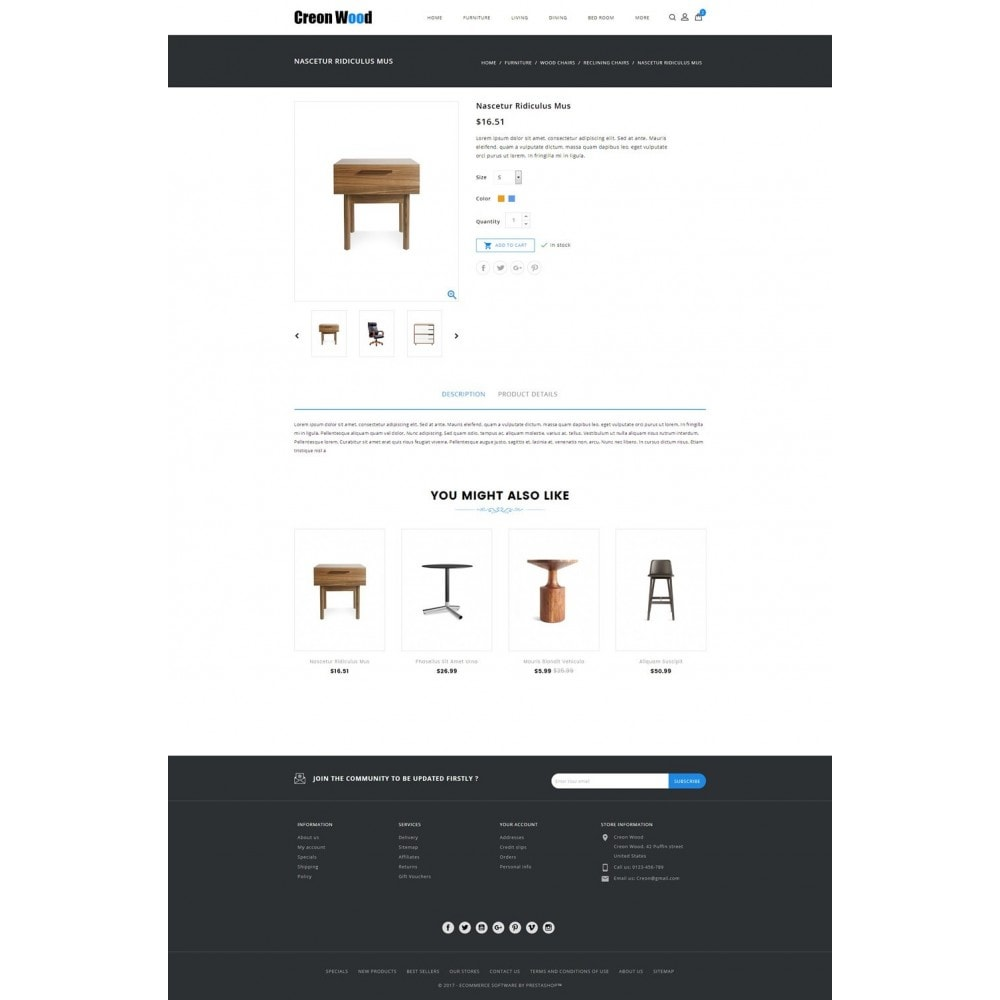 theme - Искусство и Культура - Creon Wood - Furniture Store - 5