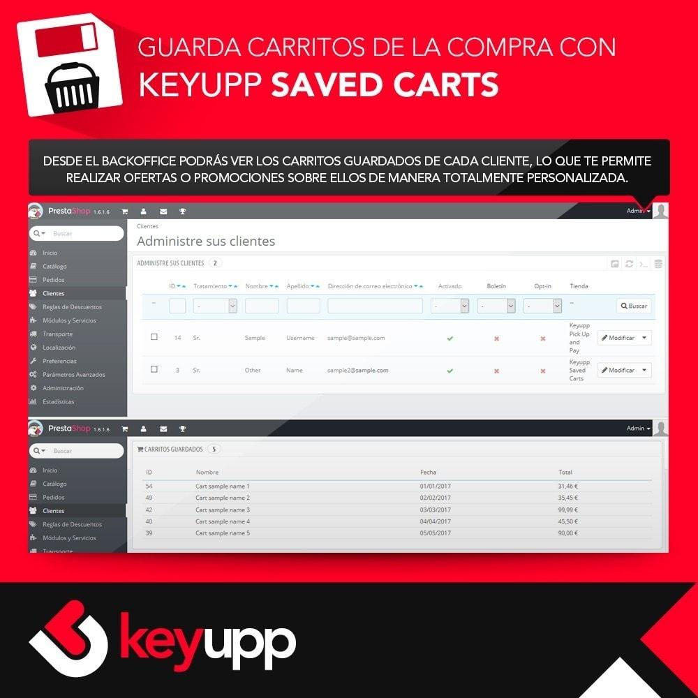 module - Inscripción y Proceso del pedido - Guarda tu carrito de la compra - 5