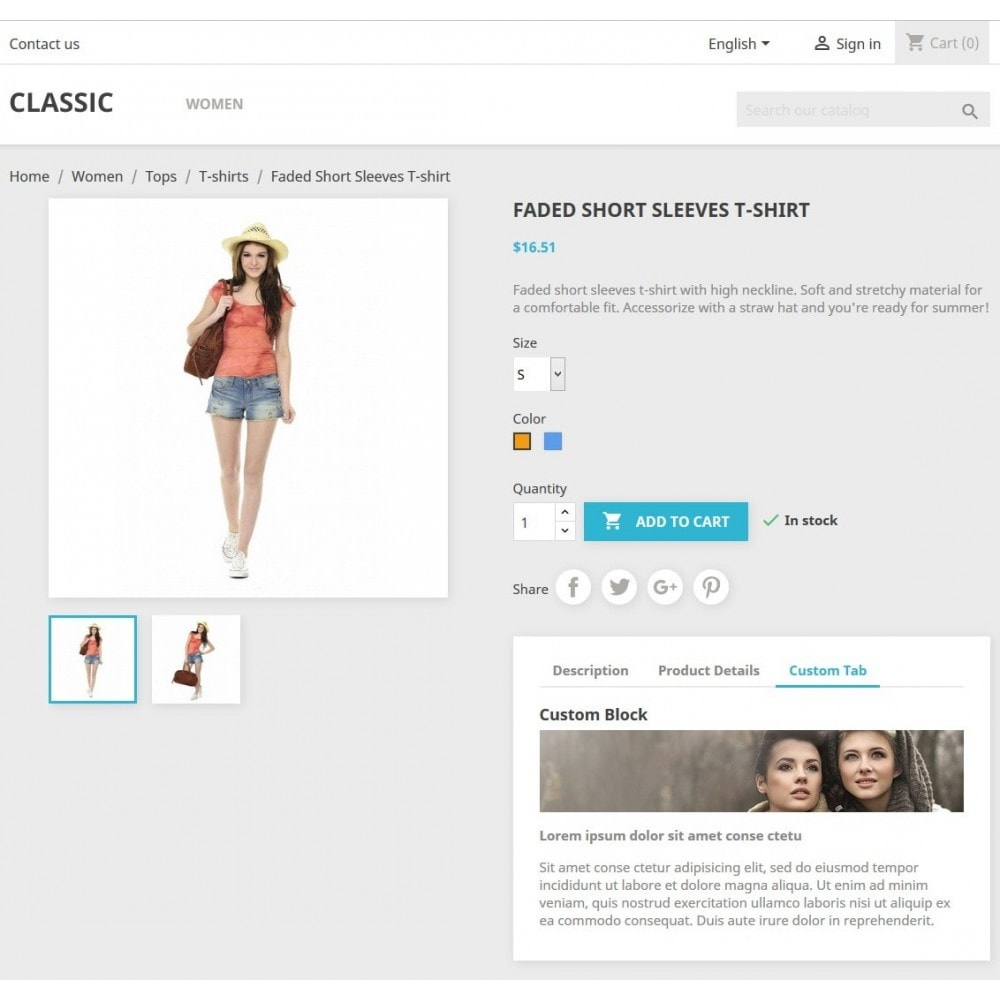 module - Altre informazioni & Product Tab - Product Tabs Extra Custom Video Banner Text - 2