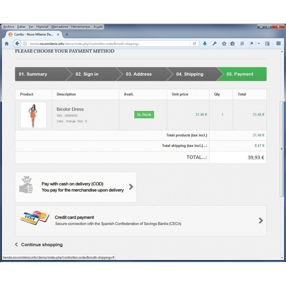 module - Paiement par Carte ou Wallet - CECA TPV PS17+ credit card Secure Pay SHA2 - 3