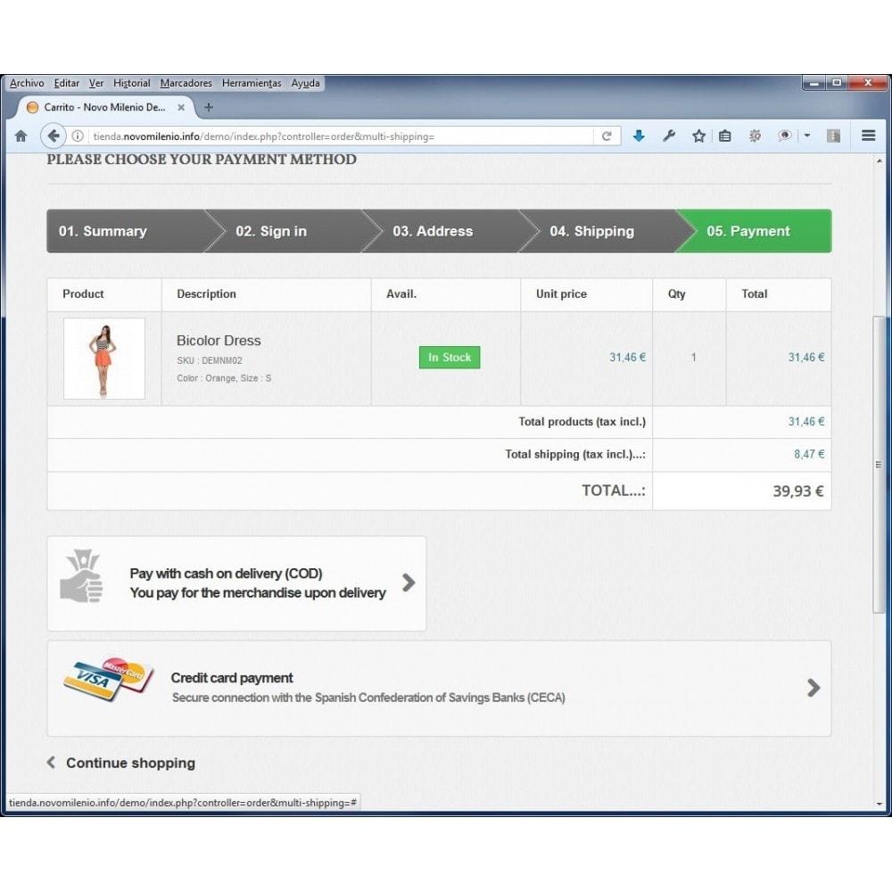 module - Pagamento con Carta di Credito o Wallet - CECA TPV PS17+ Secure Pay with credit cards - 2