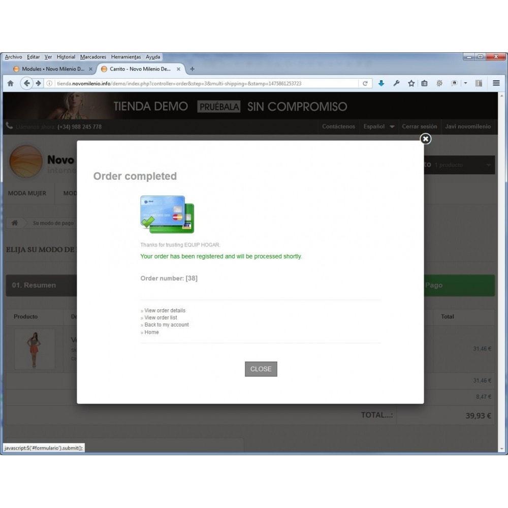 module - Paiement par Carte ou Wallet - CECA TPV PS17+ credit card Secure Pay SHA2 - 4