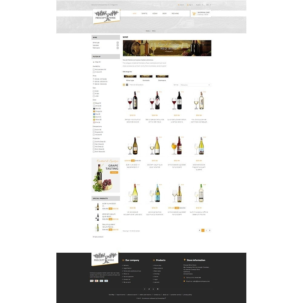 theme - Boissons & Tabac - Precept Wine Store - 3