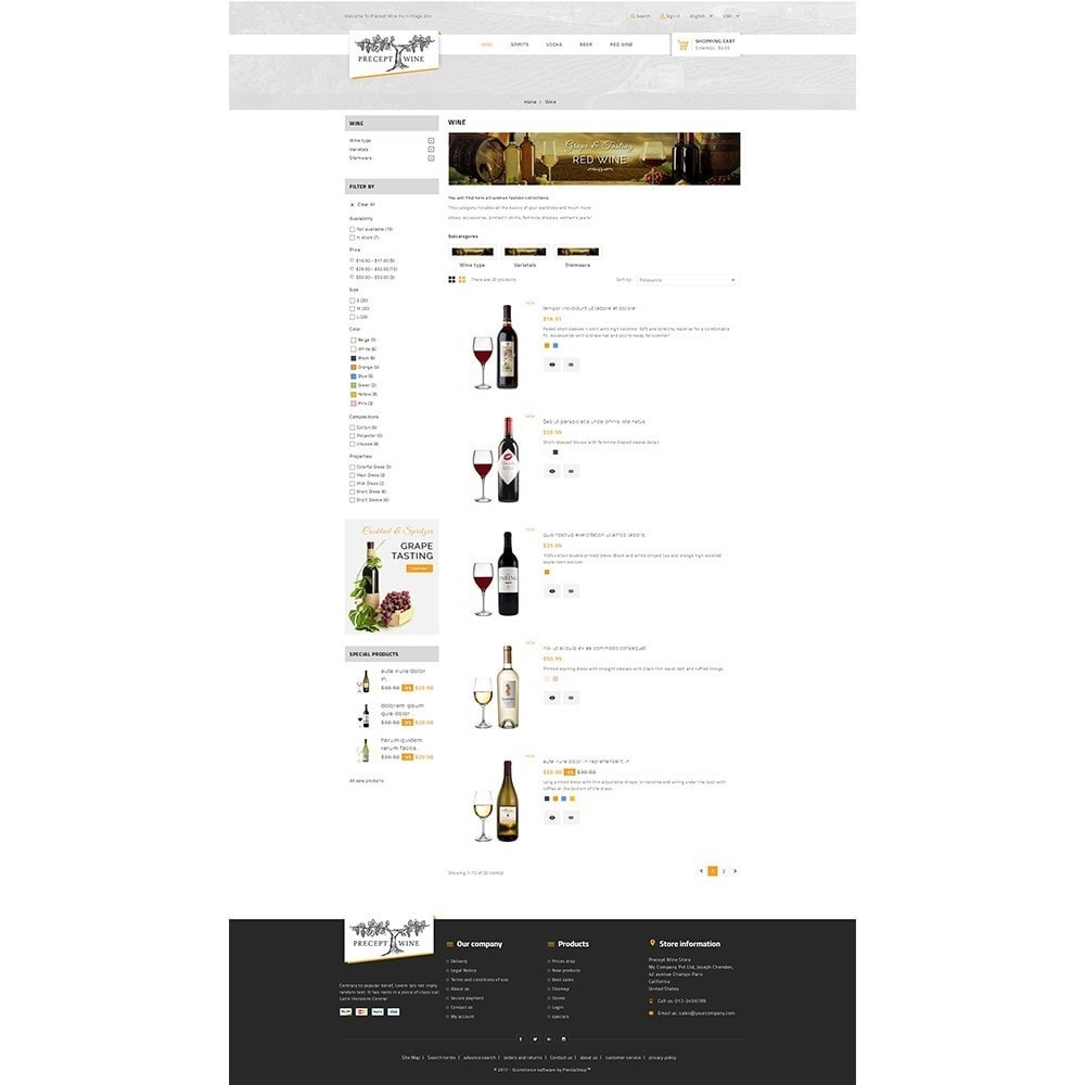 theme - Boissons & Tabac - Precept Wine Store - 4