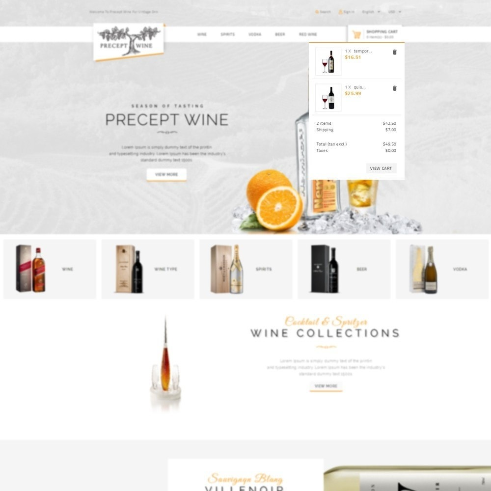 theme - Boissons & Tabac - Precept Wine Store - 7