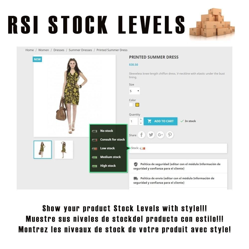 module - Information supplémentaire & Onglet produit - RSI Stock Levels - 1