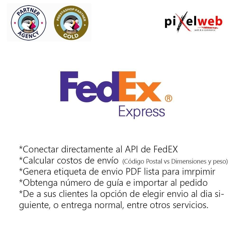 module - Transportistas - FedEx Pro : Etiqueta PDF + Código Seguimiento + Costos - 1