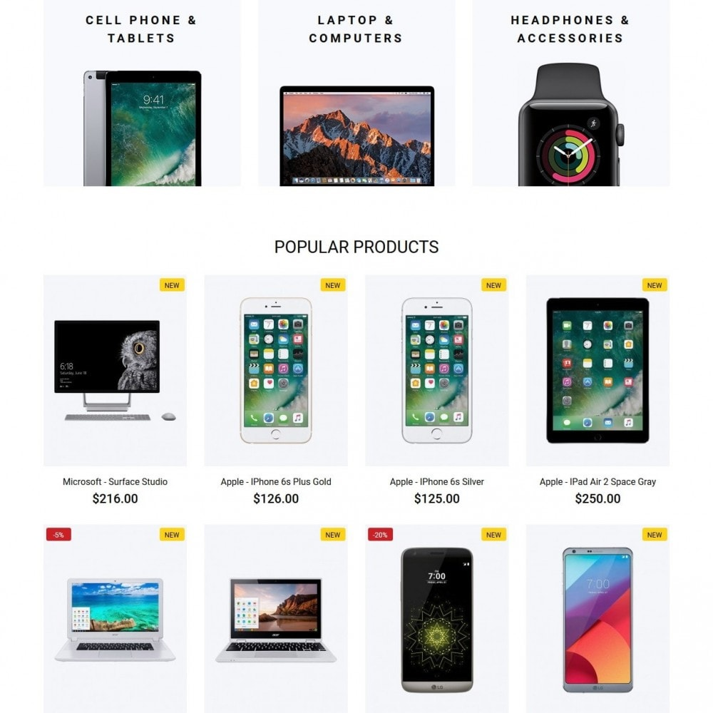 theme - Elektronika & High Tech - Mercurius - High-tech Shop - 3