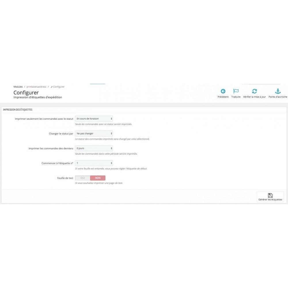 module - Préparation & Expédition - Impression étiquettes expédition + Mise à jour statuts - 2