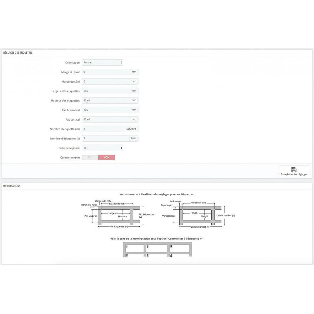 module - Préparation & Expédition - Impression étiquettes expédition + Mise à jour statuts - 3