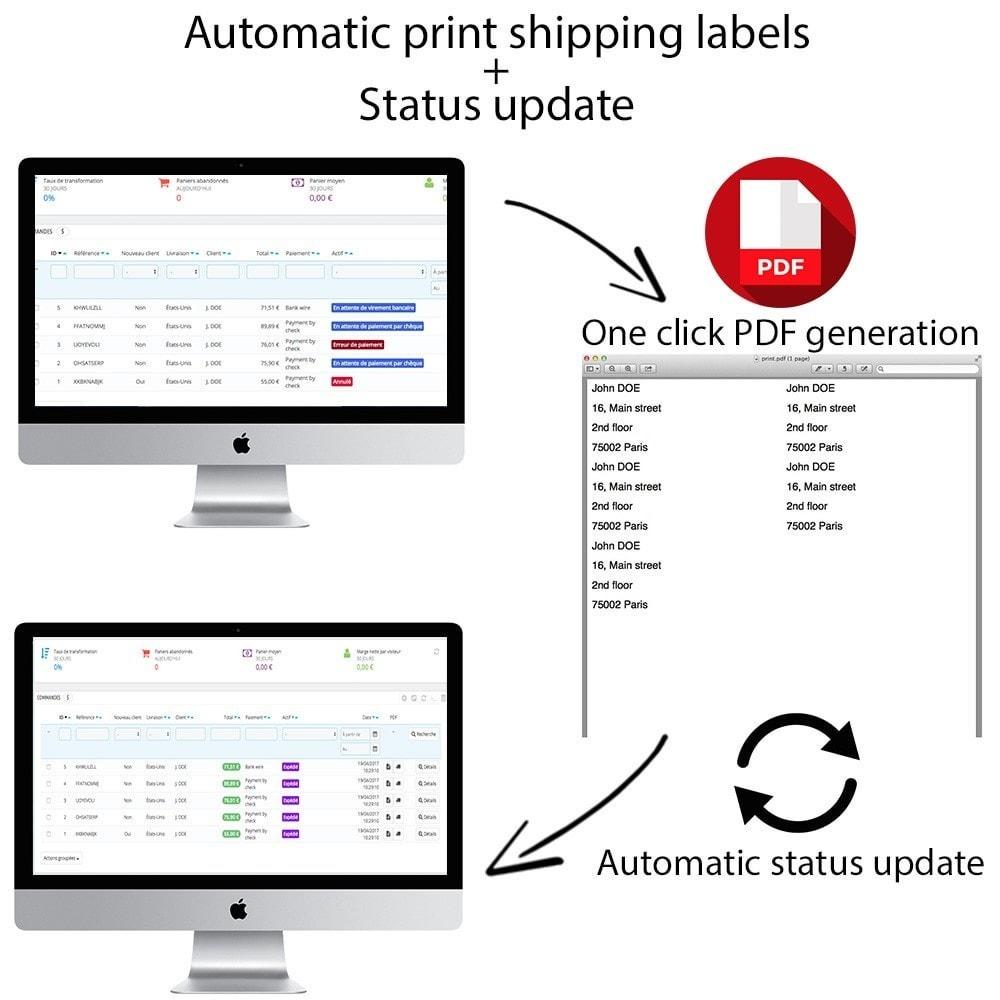 module - Preparación y Envíos - Automatic print shipping labels + Status update - 1