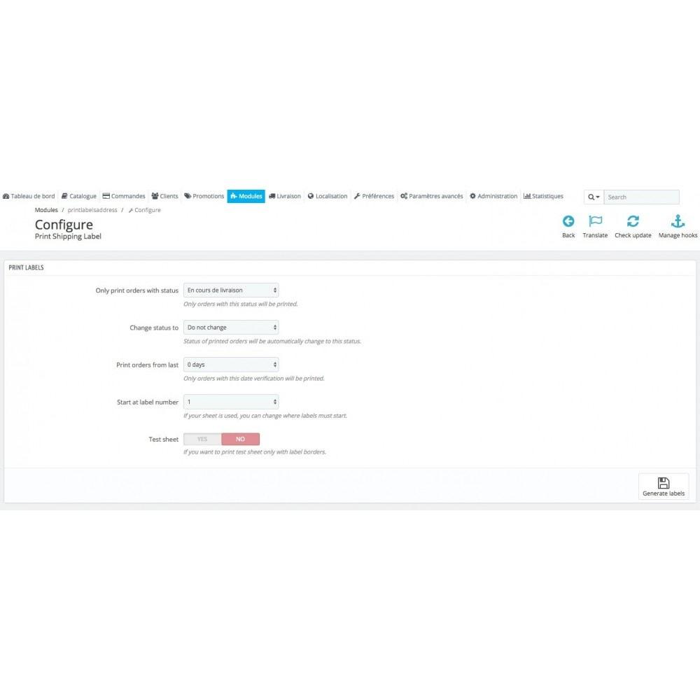 module - Preparación y Envíos - Automatic print shipping labels + Status update - 2