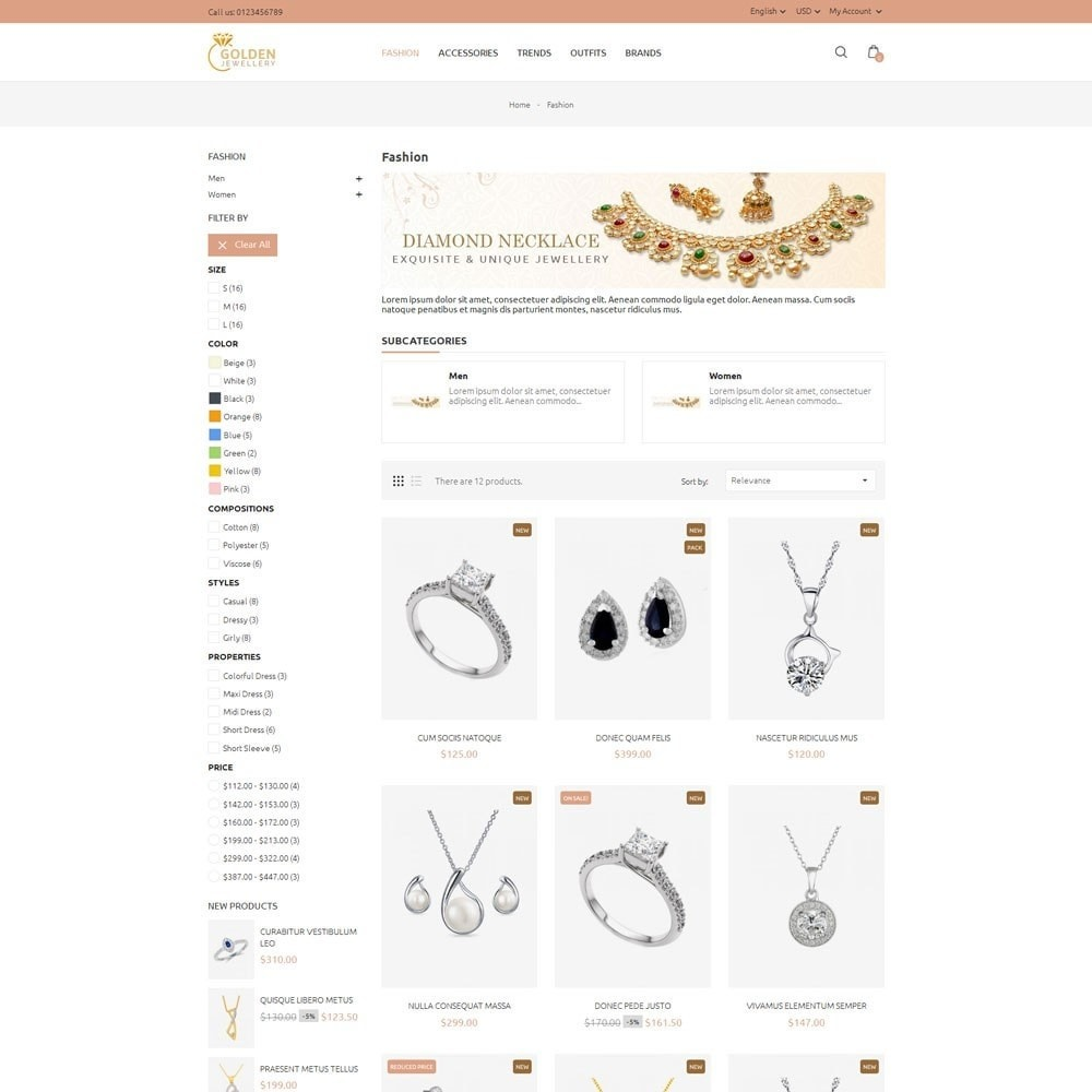 theme - Jewelry & Accessories - Golden Jewellery Store - 3