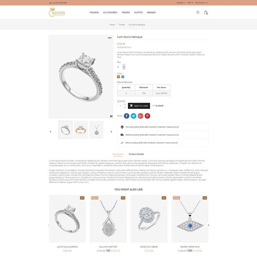 theme - Jewelry & Accessories - Golden Jewellery Store - 5