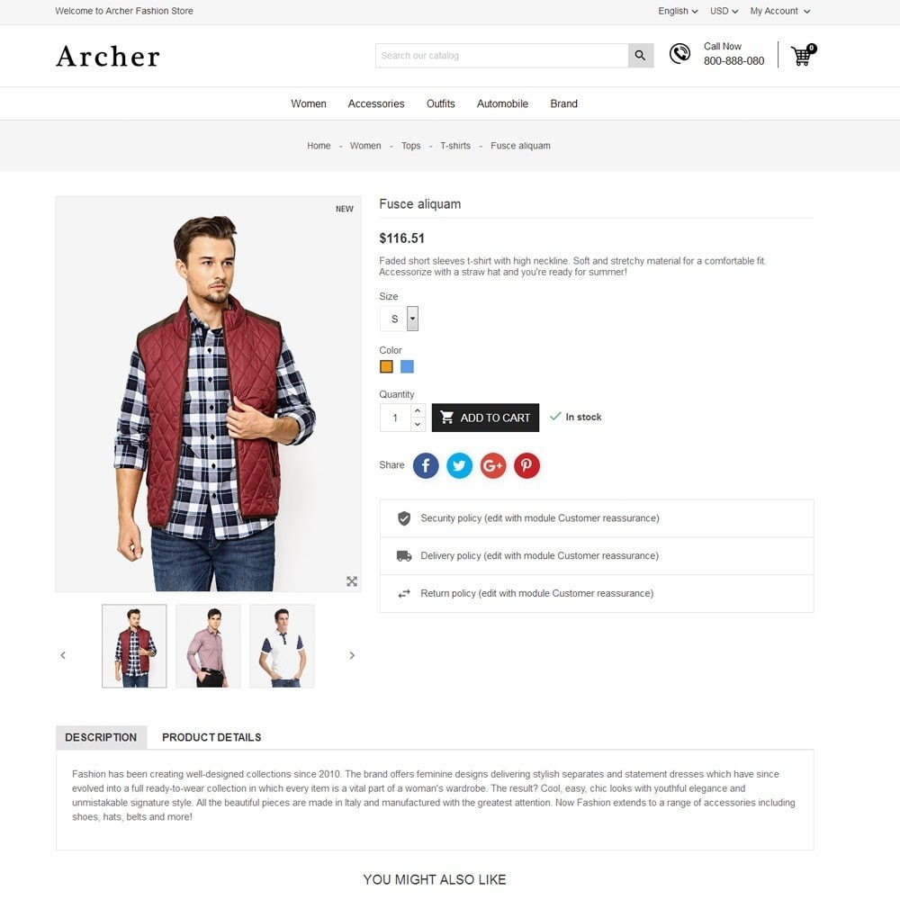 theme - Moda & Calçados - Archer Fashion Store - 7