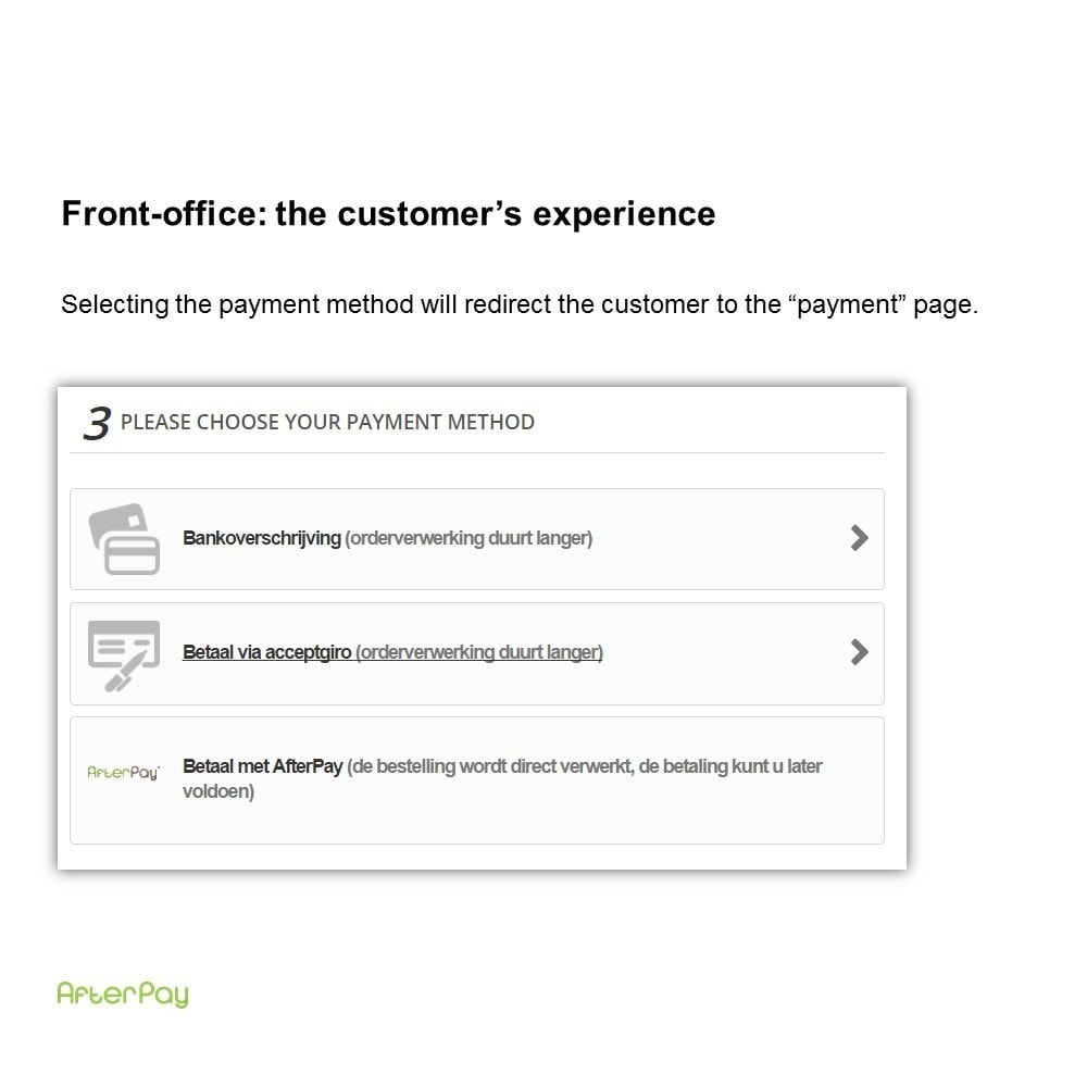 module - Andere betaalmethodes - AfterPay: Achteraf betalen - 1