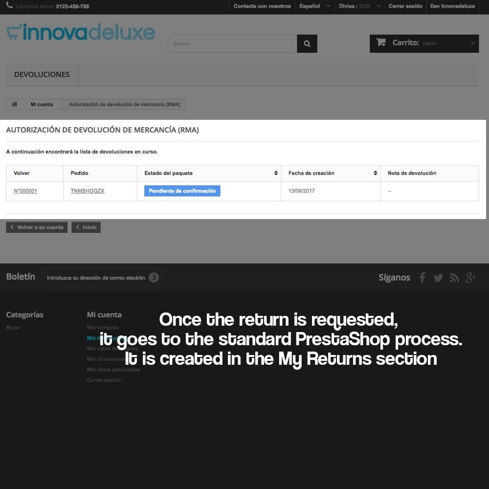 module - Администрация - Product refunds (Consumer defense law) - 13