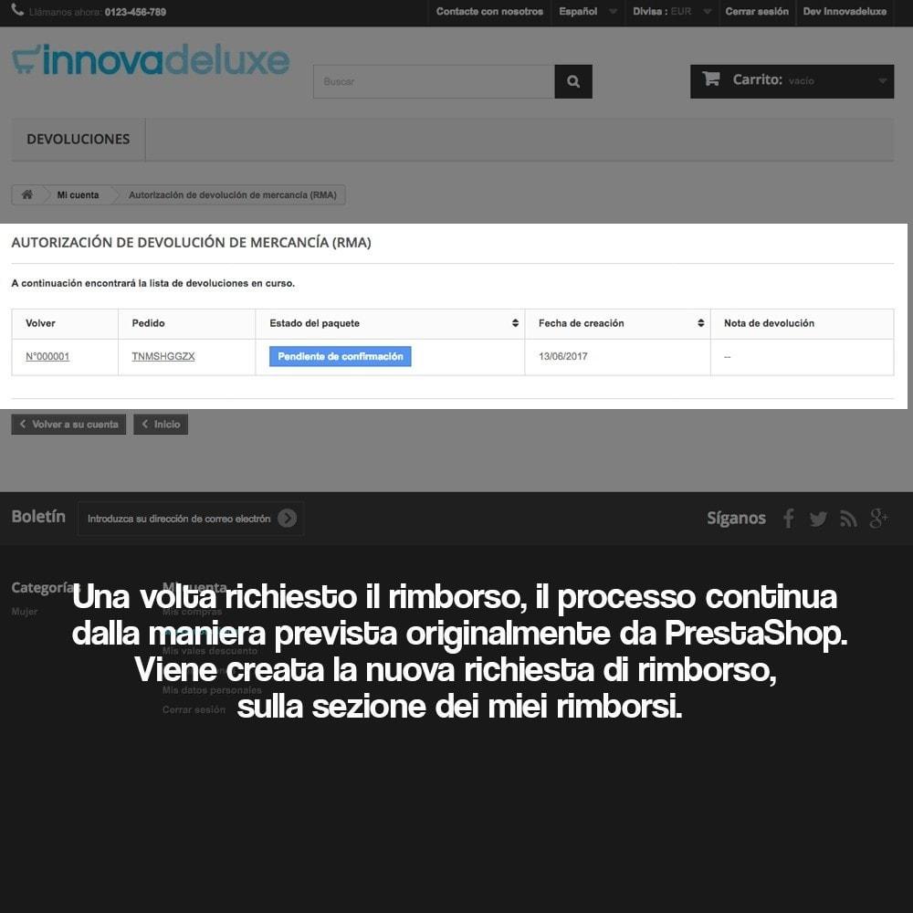 module - Legale (Legge Europea) - Rimborso dei prodotti (Legge di tutela del Consumatore) - 13