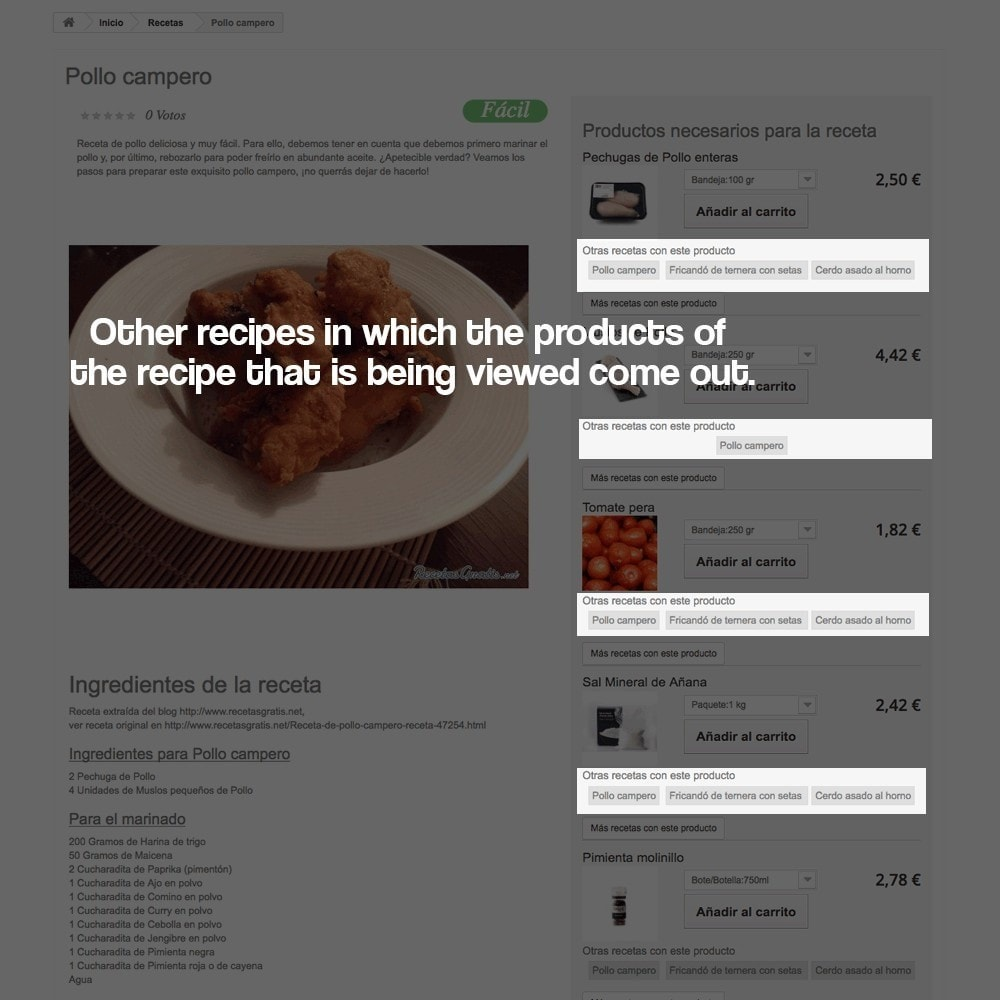 module - Blog, Forum & News - Recipe manager with the products of the store - 13