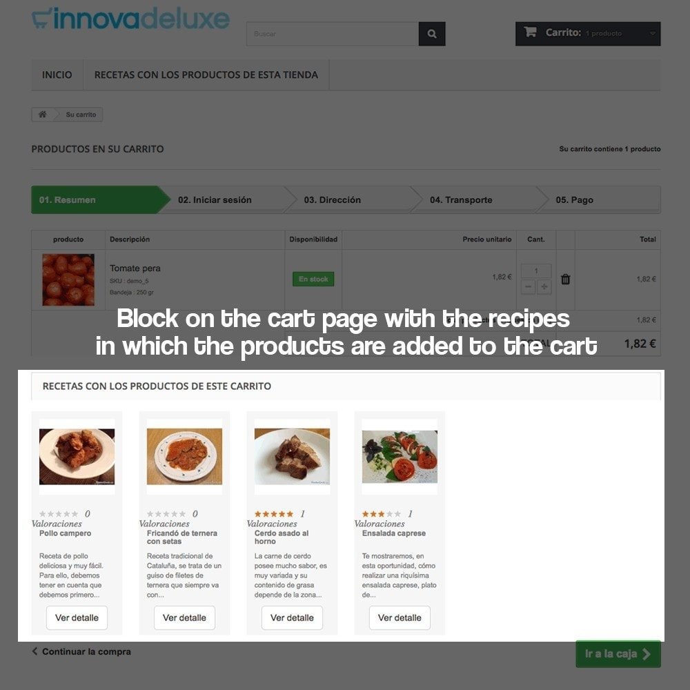 module - Blog, Forum & News - Recipe manager with the products of the store - 17