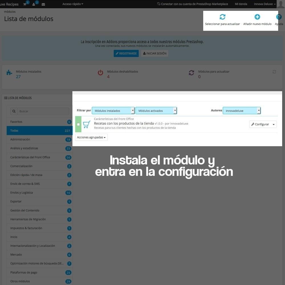 module - Blog, Foro y Noticias - Gestor de recetas con los productos de la tienda - 2