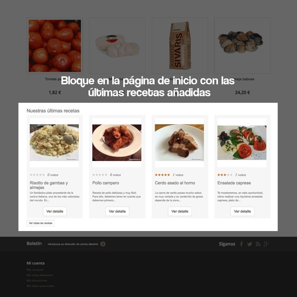 module - Blog, Foro y Noticias - Gestor de recetas con los productos de la tienda - 9